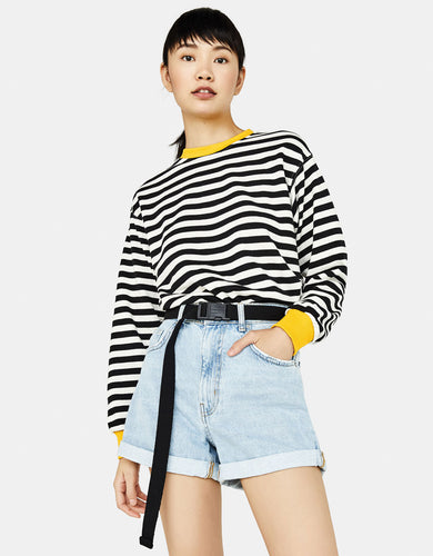BSK Striped Crew neck Sweatshirt
