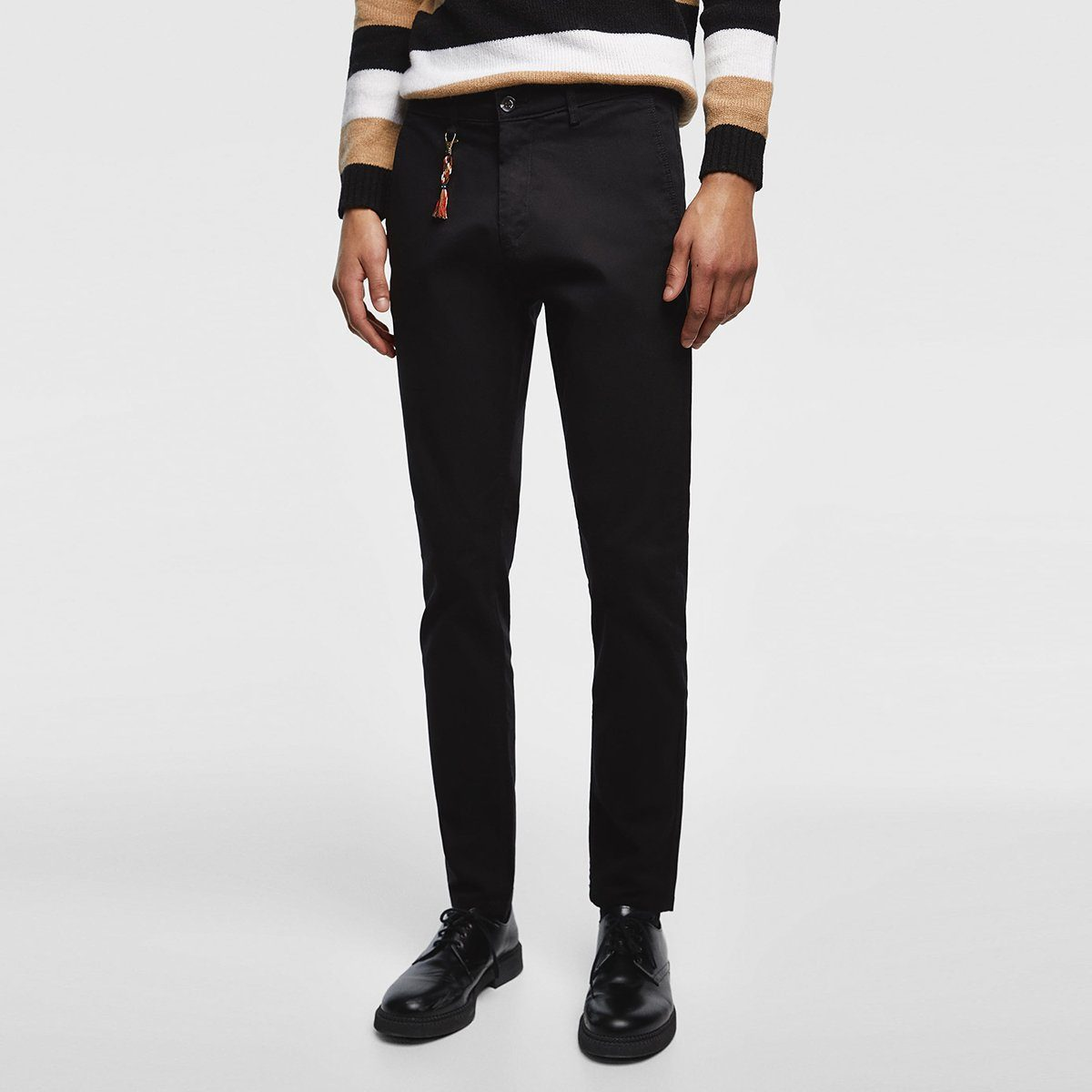 ZARA - Cotton Chino 'skinny fit' Basic Collection (Black)