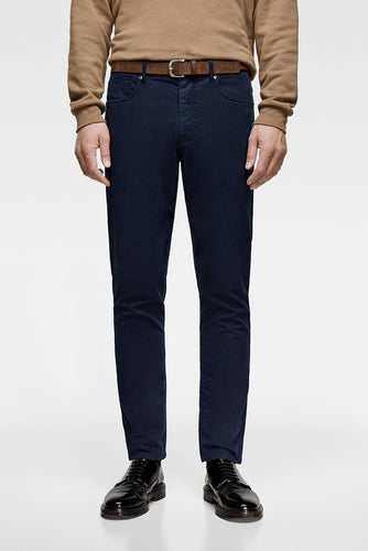 ZR - COTTON STRETCH 'SLIM FIT' CHINO (NAVY BLUE)