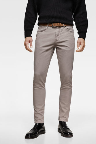 ZR - COTTON STRETCH 'SLIM FIT' CHINO (GREY)