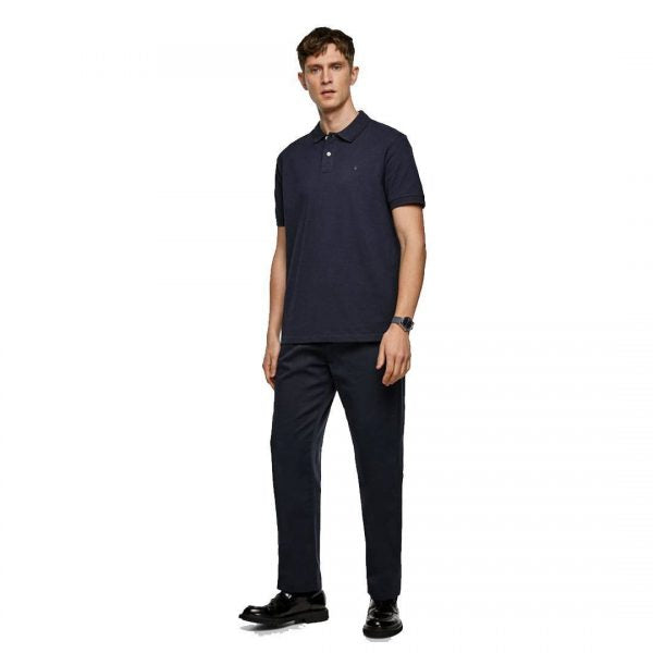 ZR – NAVY MARL BASIC POLO SHIRT