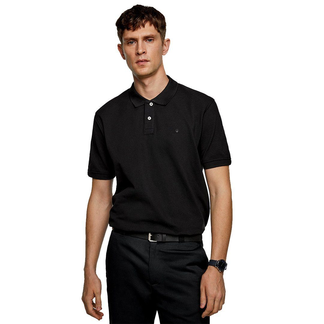 ZR -  BLACK BASIC POLO SHIRT