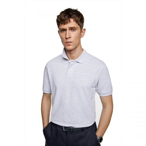 ZR – GREY MARL BASIC POLO SHIRT