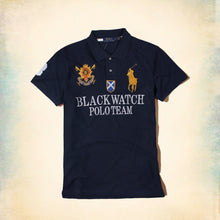 Load image into Gallery viewer, RALPH LAUREN – Exclusive Navy Blue Big pony BLACKWATCH 'slim fit' Embroidered Polo