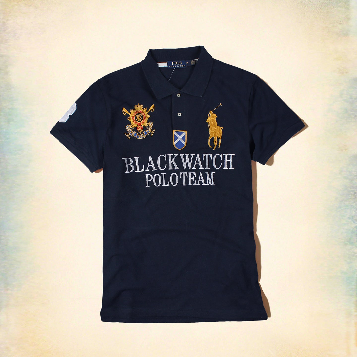 RALPH LAUREN – Exclusive Navy Blue Big pony BLACKWATCH 'slim fit' Embroidered Polo