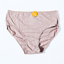 Load image into Gallery viewer, Mid Waist Cotton Contrast  Underwear - Tea Pink (037)