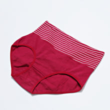 Load image into Gallery viewer, Mid Waist Cotton Contrast Underwear - Maroon (041)
