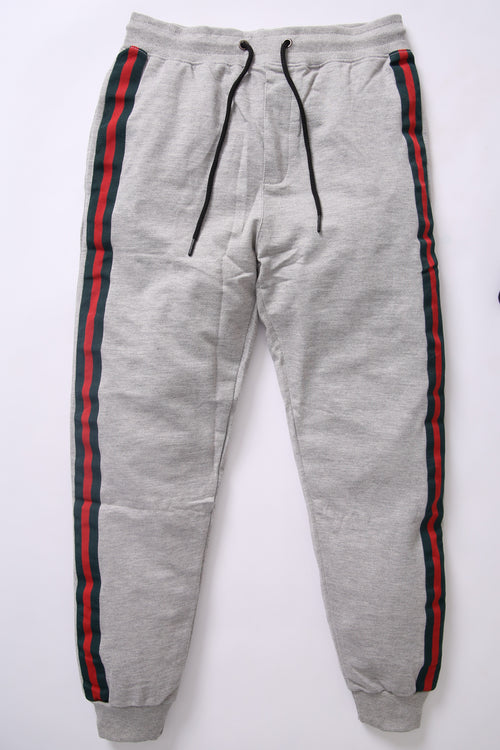 BSK Men Gray Jogging Trouser with Contrast Stripes