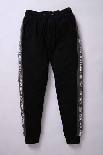 BSK - Men Black Jogger Trouser with Contrast Stripes