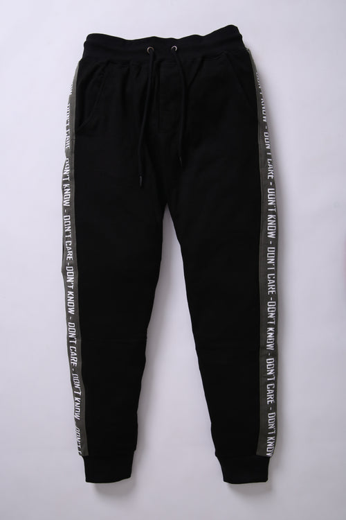 BSK Men Black Jogger Trouser with Contrast Stripes