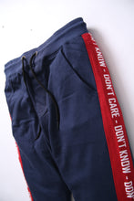 Load image into Gallery viewer, BSK- Men Blue Jogger Trouser with Red Stripes