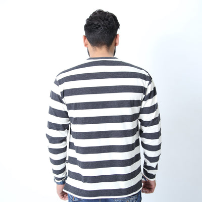 UC Full Sleeve Striped Polo (515)