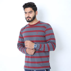 UC Full Sleeve Striped Polo (510)