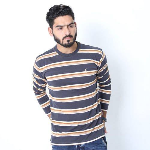 UC Full Sleeve Striped Polo (525)