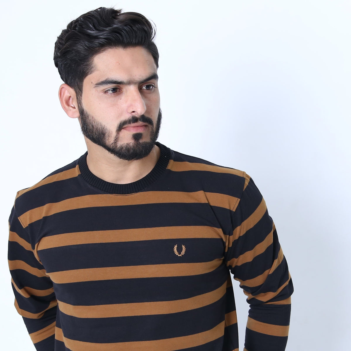 UC Full Sleeve Striped Polo (520)