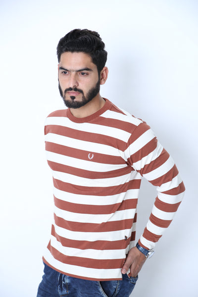 UC Full Sleeve Striped Polo (535)