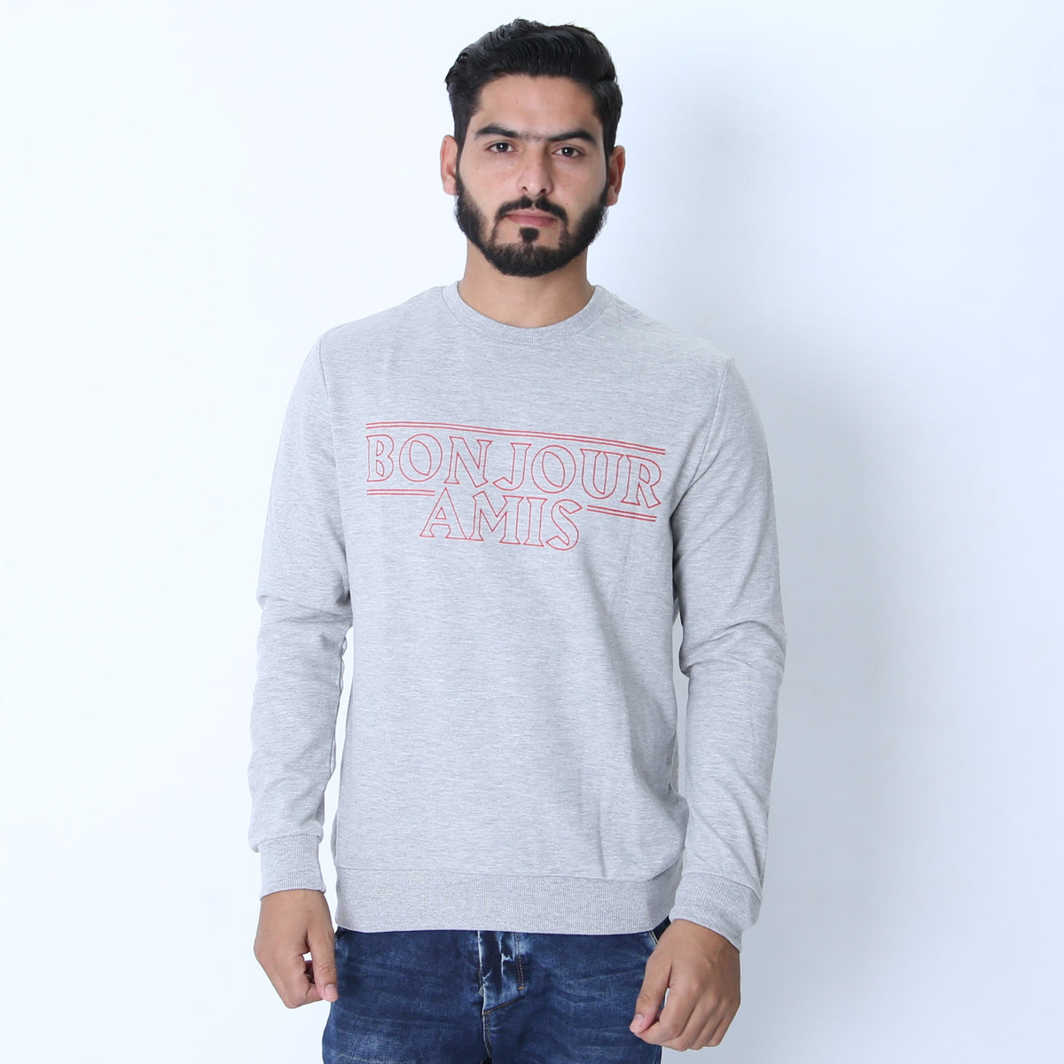 LFTS Men Printed Slogan Sweatshirt