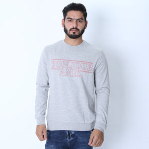 LFTS - Men Printed Slogan Sweatshirt