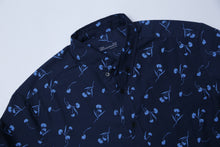 Load image into Gallery viewer, C & A - SLIM FIT PRINTED BLUE SHIRT