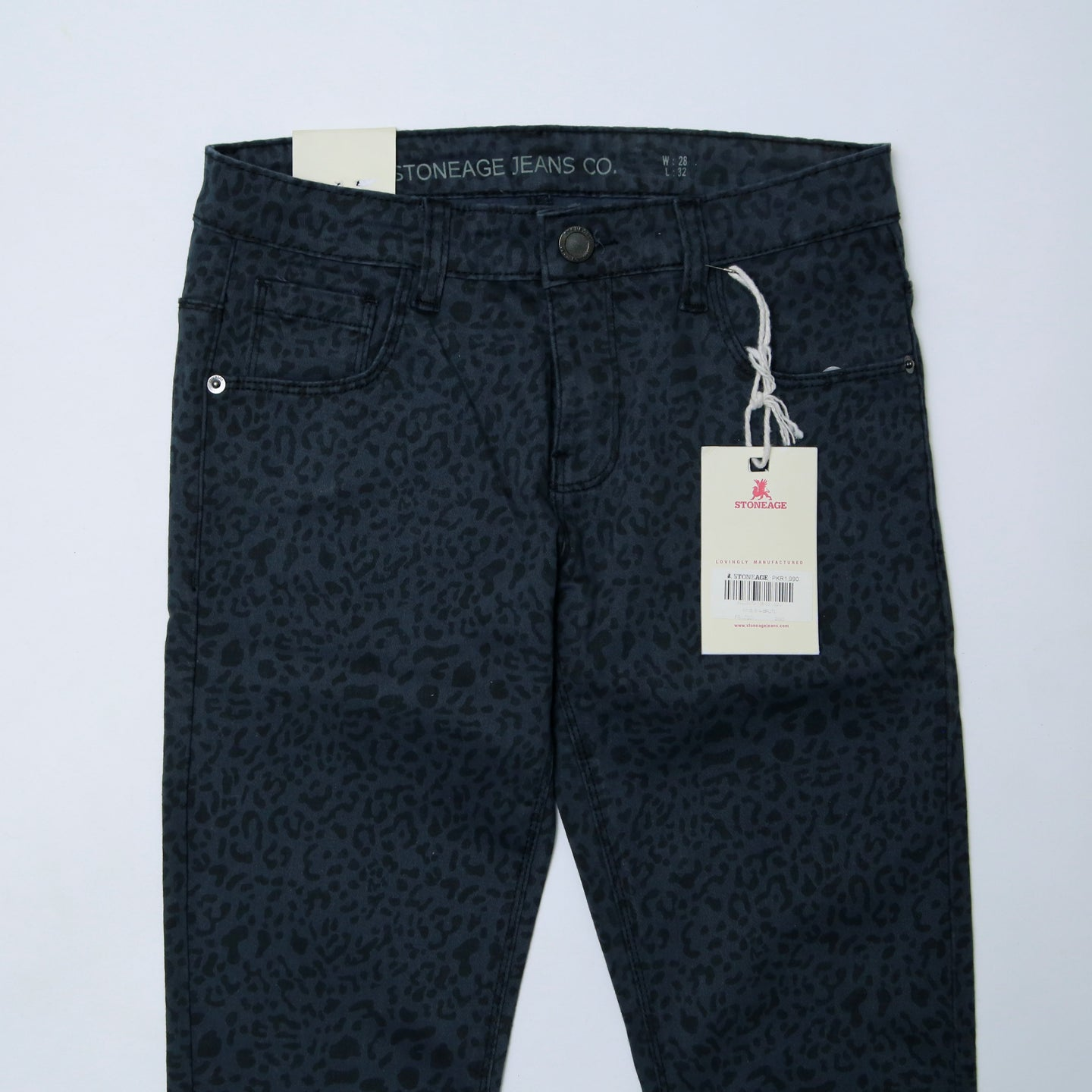 Stoneage Jeans - Brute - Printed Dark Grey Jeans