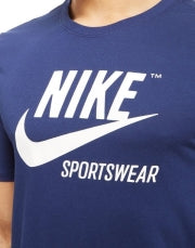 NIKE- logo crew neck Blue T-Shirt