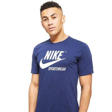 Load image into Gallery viewer, NIKE- logo crew neck Blue T-Shirt