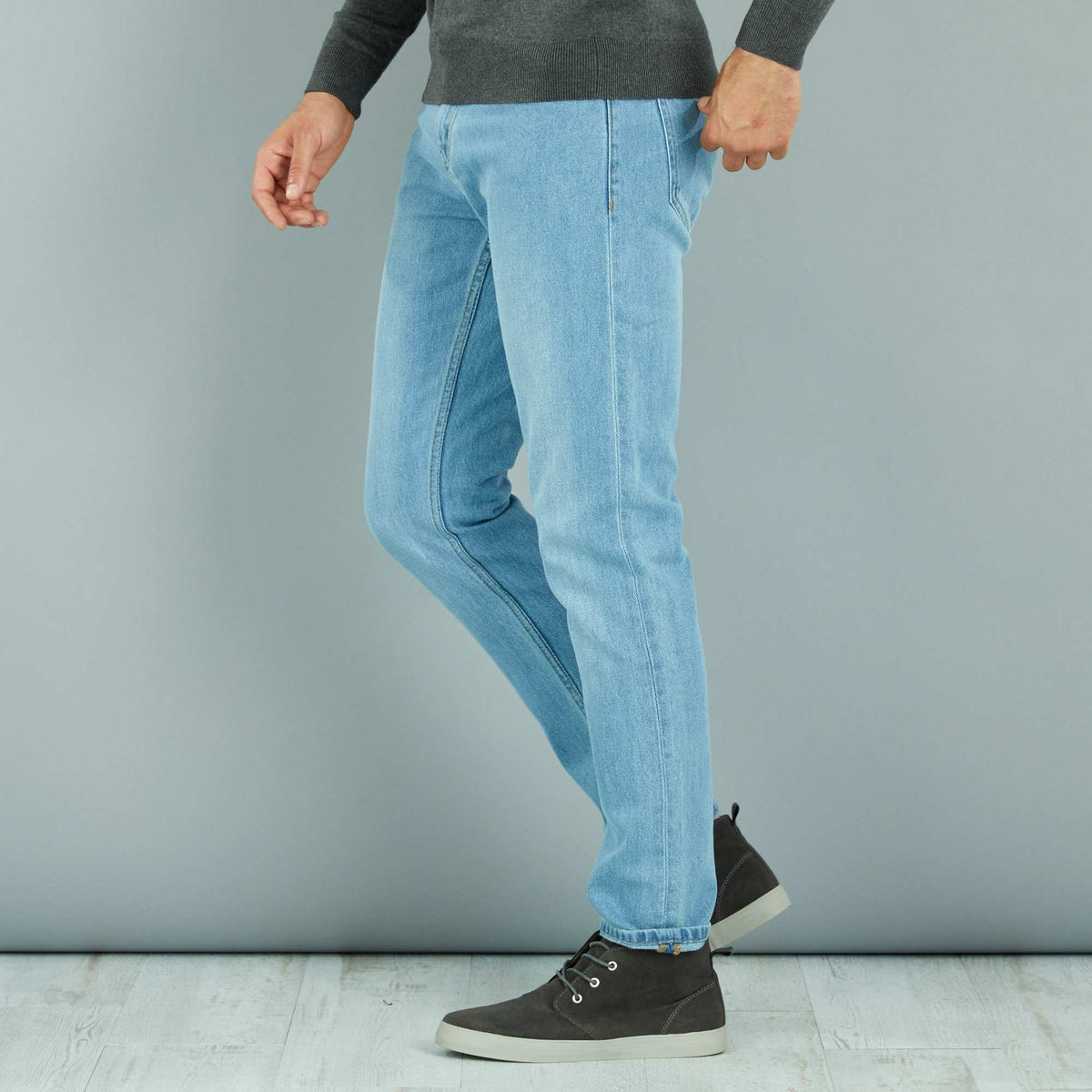 KIABI - Bleached 'slim fit' Blue jeans