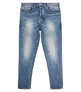 NEW LOOK - Blue Vintage Wash Slightly Distressed Tapered Jeans