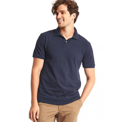GAP - Short Sleeve Pique Navy Polo