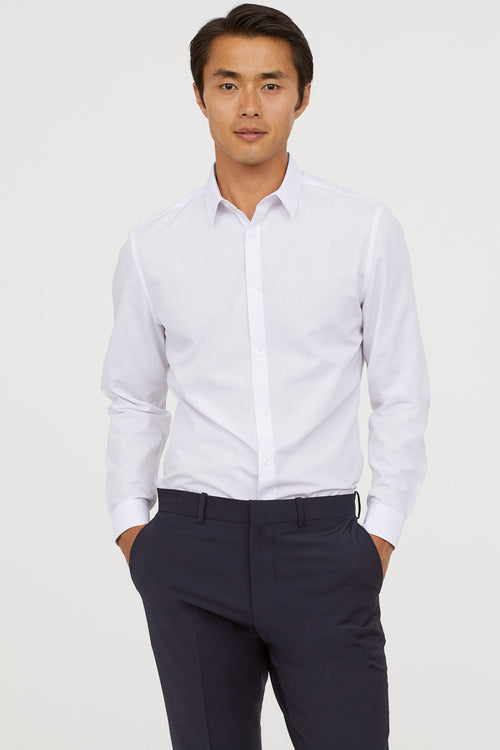 HNM - Easy iron Slim Fit White Shirt