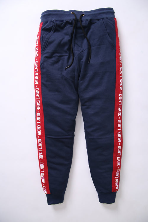 BSK Men Blue Jogger Trouser with Red Stripes