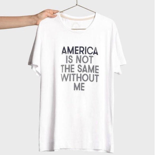 America Is Not Same Milano T-Shirt - White