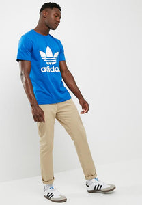 Adidas T Shirt With Trefoil Logo BLUE