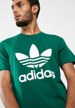 Load image into Gallery viewer, Adidas T Shirt With Trefoil Logo JADE GREEN