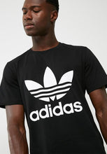 Load image into Gallery viewer, Adidas T Shirt With Trefoil Logo BLACK
