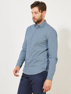 KIABI - Poplin Fitted shirt with stripes and polka dots