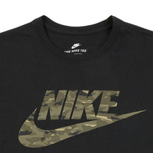 Load image into Gallery viewer, NKE- Camo Logo Crew Neck Black T-Shirt