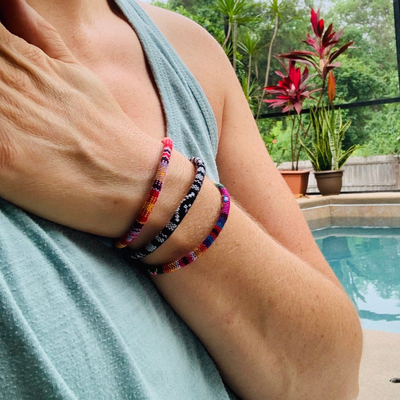 Boho Woven Bracelets - Woven Layering Bracelets for Men or Women