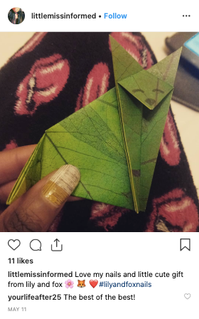 review from a Lily and Fox Customer on Instagram