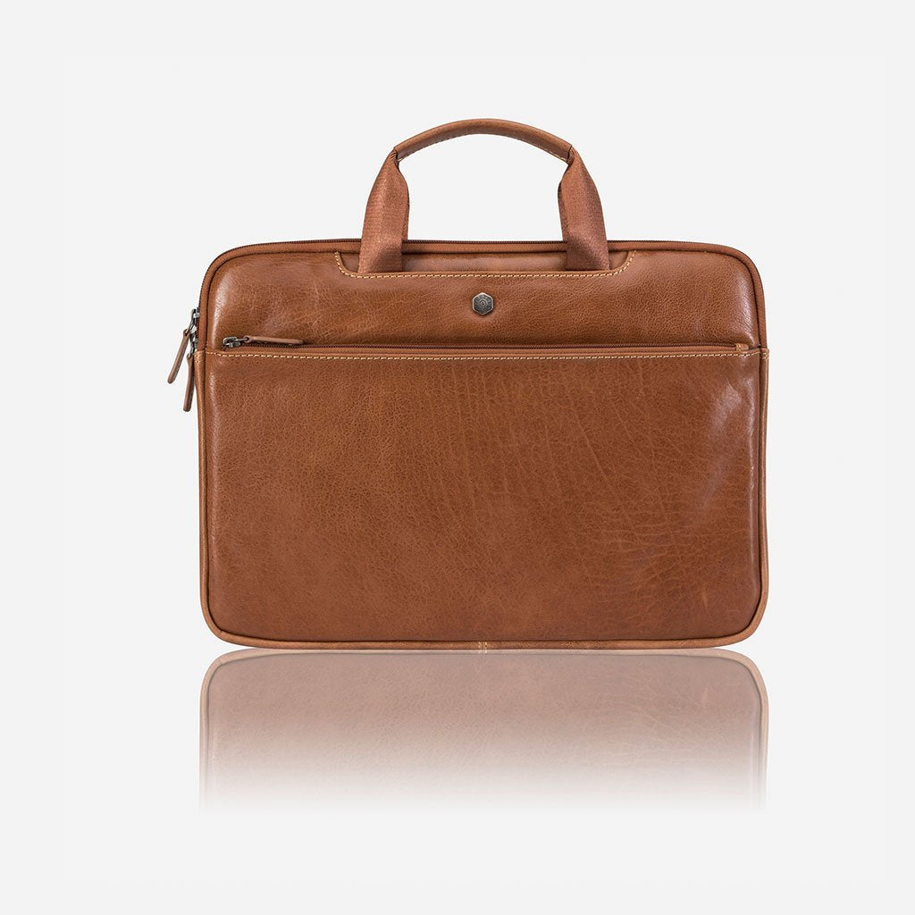 Extra Slim Laptop Briefcase, Tan