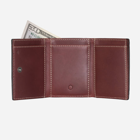 Tri Fold Card Holder, Red