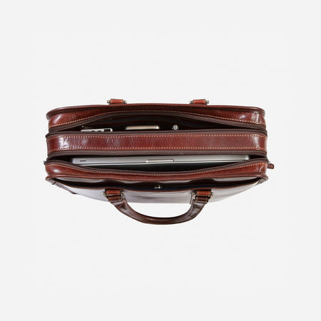 Large Double Compartment Briefcase