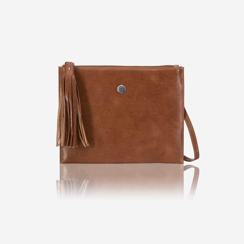 Ladies Slim Crossbody Purse, Tan