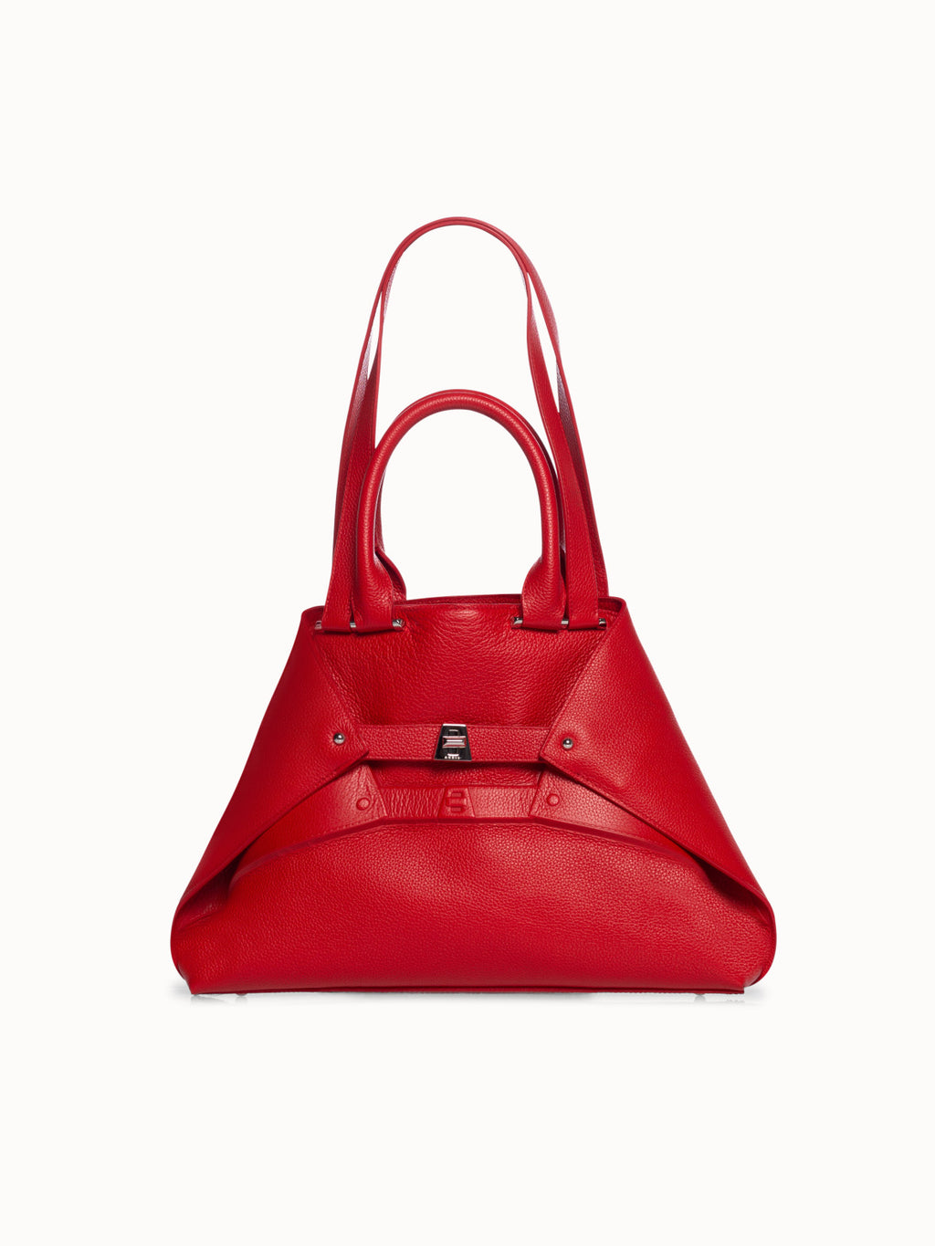 Small Aicon Leather Tote Bag with Embossed Details by Aicon, available on akris.com for $1990 Emma Roberts Bags Exact Product