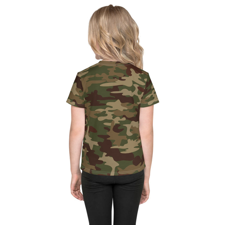 Kids Athletic Army Camo T-shirt