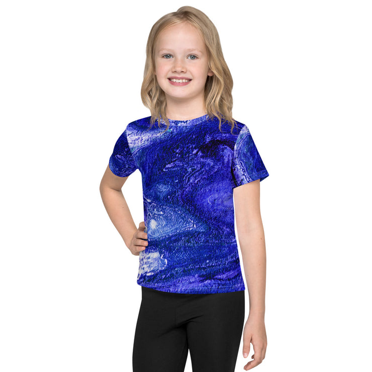Kids Athletic Lavender Blue T-Shirt