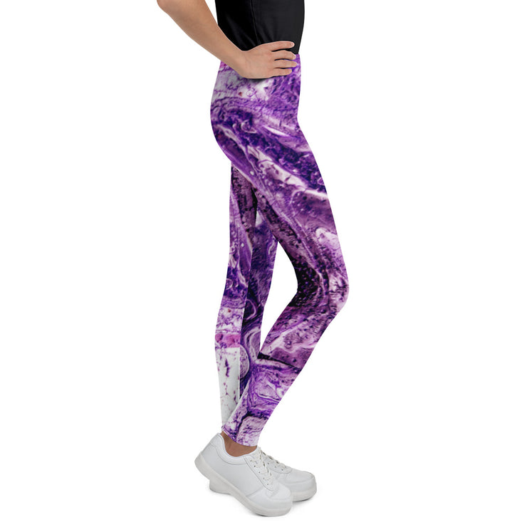 Youth Violet Marble COMFORTI™ Leggings
