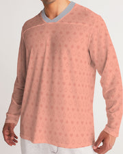 Salmon Poker Men's Long Sleeve Sports Jersey
