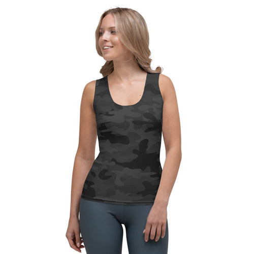 Black Camo Flex Tank Top