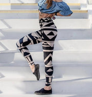 High Waist City Tribal Leggings